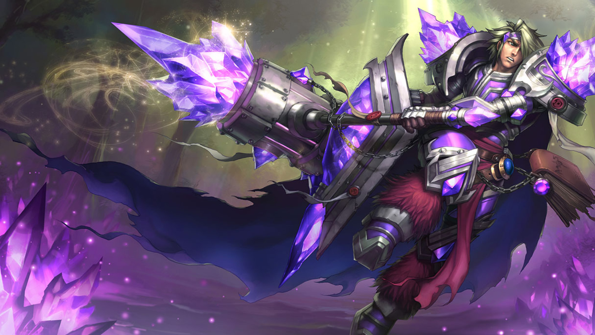 Armor Of The Fifth Age Taric Chinese Wallpaper Leaguesplash