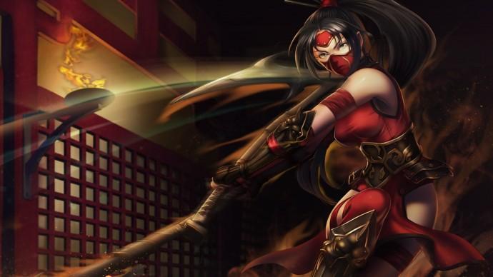 Crimson Akali Chinese