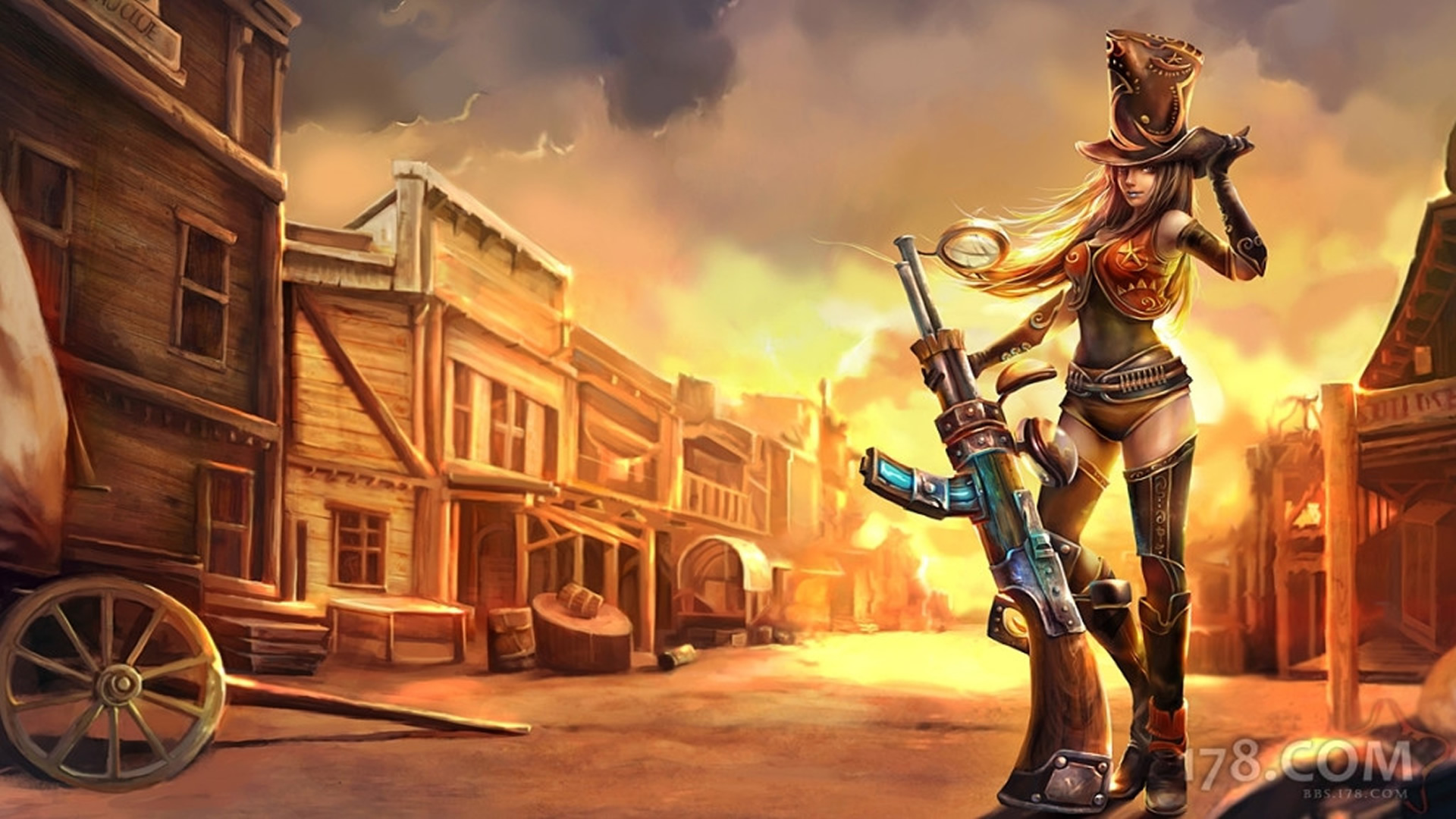 Sheriff Caitlyn Chinese Wallpaper - LeagueSplash