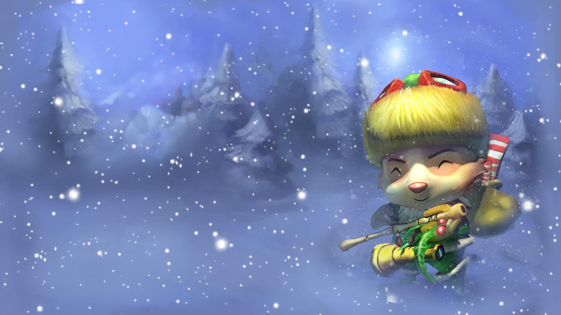 Happy Elf Teemo Original Wallpaper Leaguesplash