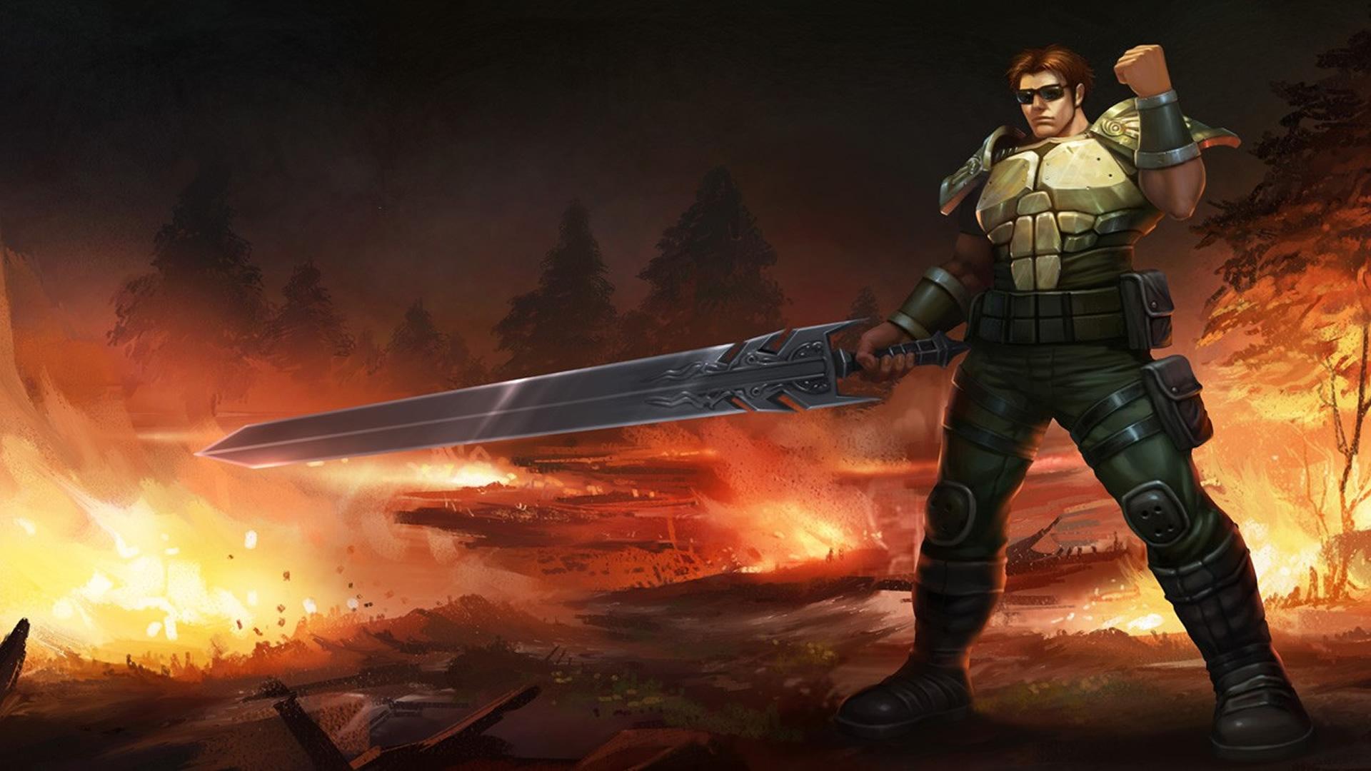 Commando Garen Chinese Wallpaper - LeagueSplash