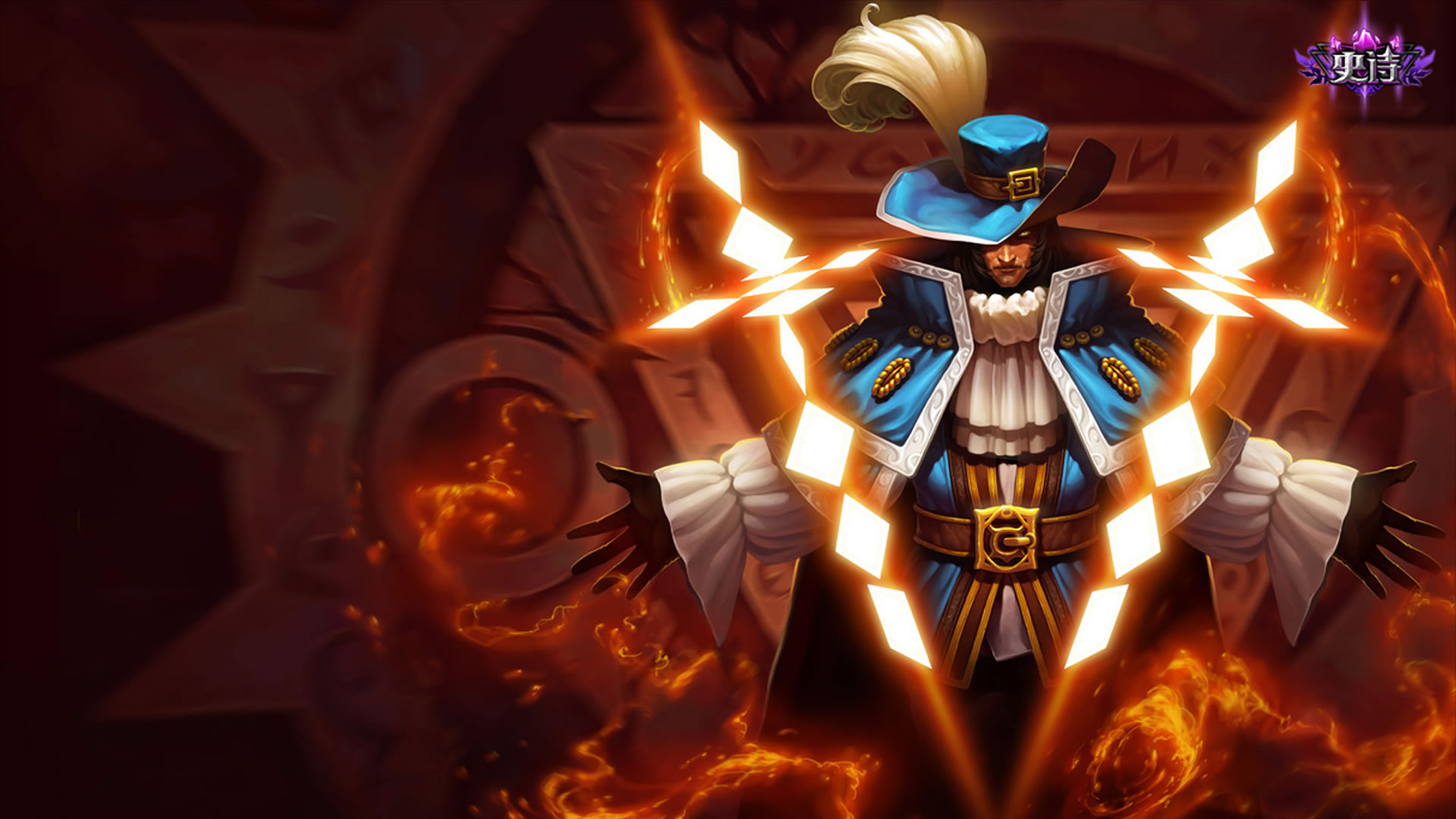 Musketeer twisted fate chinese wallpaper leaguesplash musketeer twisted fate chinese voltagebd Images