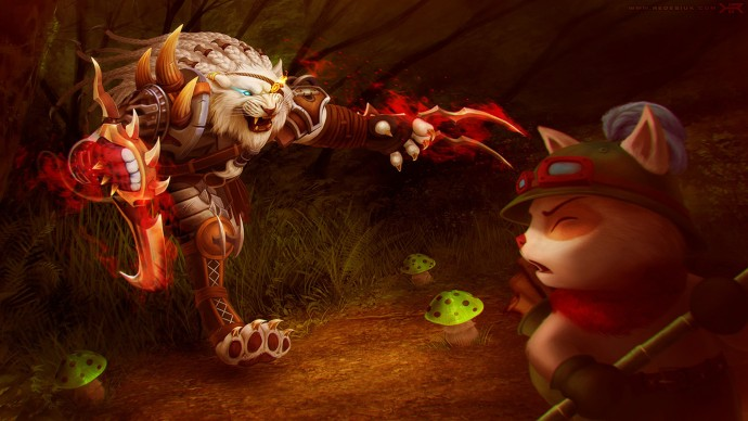 Rengar and Teemo Fanart