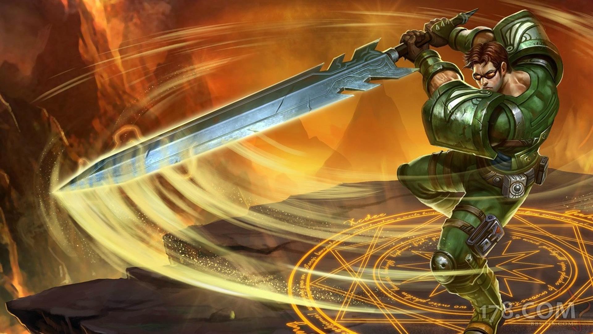 Commando Garen Chinese (2) Wallpaper - LeagueSplash